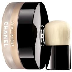 Chanel Vitalumiere loose powder foundation ❤ liked on Polyvore featuring beauty products, makeup, face makeup, foundation, chanel, powder foundation, chanel foundation and chanel face makeup