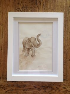 Elephant artwork! Forever blowing bubbles....I love the way he looks at me as if to say is this a big enough bubble or shall we keep going????? For more visit www.bluebrush.co.nz or follow us @Bluebrushart #artforboys #elephantpainting