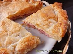 Quiche with ham and cheese | Torta salata con prosciutto cotto e formaggio | Zenzero e Limone