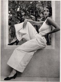 Renée Perle at Juan-les-Pins, France, 1930 by Jacques-Henri Lartigue