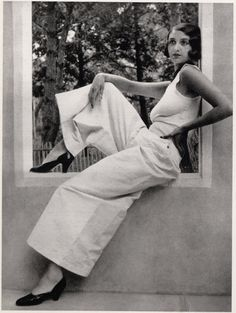 // Renée Perle at Juan-les-Pins, France, 1930 by Jacques-Henri Lartigue