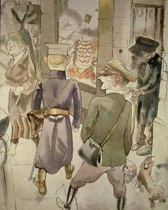View The Blind Man by George Grosz on artnet. Browse more artworks George Grosz from Richard Nagy Ltd. Chicago Museums, Chicago Chicago, Kathe Kollwitz, George Grosz, Art Eras, Berlin Street, Max Ernst, European Paintings, Expressions
