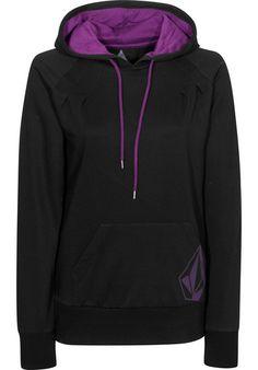 Volcom Back-in-the-Line Hooded-Sweatshirt black-purple | Titus Onlineshop