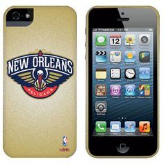 uk availability 300d8 1f3b9 New Orleans Pelicans Team Logo iPhone 5 Case - Gold