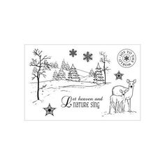 Cuddly Buddly Clear Stamps - Winter Wonderland CBS0012