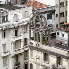 Buildings at Vitoria street, Sao Paulo - Brazil