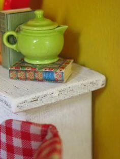 teapot and book
