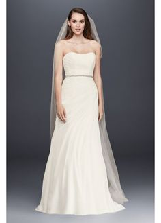 Searching for discount wedding dresses? Browse David's Bridal wedding dresses for sale, including discount plus size & designer wedding dresses online now! Chiffon Wedding Gowns, Chiffon Gown, Bridal Wedding Dresses, Bridal Style, Classic Wedding Dress, Perfect Wedding Dress, Dream Wedding, Davids Bridal, Wedding Dresses Photos