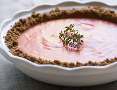 Grapefruit Gingersnap Pie is a tangy citrus curd baked up on a fabulous a gingersnap cookie crumb crust ~ this sunny mid-winter dessert wows everybody!