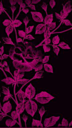 Pink and Black floral print