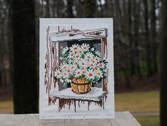 A personal favorite from my Etsy shop https://www.etsy.com/listing/263896602/vintage-daisy-cross-stitch-picture-for