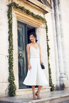 ASOS Top / ASOS Culottes / Chie Mihara Sandals / Mulberry Bag / Jennifer Zeuner Love Ring and Necklaces / ManiaMania Ring