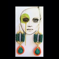 Handmade #pgaccesorios #chapadeoro #aretes #earrings #handmadejewelry #turquesa