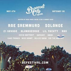 Broccoli City Festival #Solange #RaeSremmurd #NAO #21Savage #LilYachty #NickGrant #MusicFestivals #Festivals
