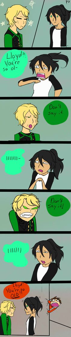 Lloyd You're Old-Spoliers (Clean) by JustAveiwer907.deviantart.com on @DeviantArt