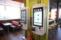 McDonald's is catering both to customers who love and hate making choices. It's a smart business move. Mcdonalds Gift Card, Up Theme, Self Serve, Metal Baskets, Kiosk, Keurig, Catering