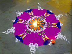 Today I am sharing with you a Rangoli design for diwal, Rangoli Design Patterns and Diwali Rangoli Photos. Pictures of Rangoli with Flower, rangoli design for diwali Rangoli Colours, Rangoli Patterns, Rangoli Ideas, Rangoli Designs Diwali, Rangoli Designs Images, Rangoli Designs With Dots, Diwali Rangoli, Beautiful Rangoli Designs, Shubh Diwali