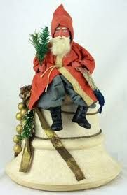 SANTA WITH SPUN COTTON BELL