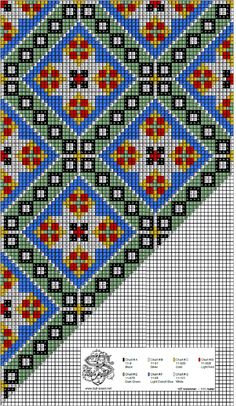 bringeklut 09 hoy variant blaa Cross Stitch Charts, Cross Stitch Designs, Cross Stitch Patterns, Knitting Patterns, Hardanger Embroidery, Cross Stitch Embroidery, Cross Stitch Cushion, Norwegian Rosemaling, Embroidery Flowers Pattern