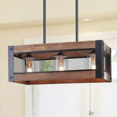 LNC Wood Black Chandelier with Clear Glass - The Home Depot - LNC HOME Farmhouse Wooden Lighting Dining Room Lighting You are in the right place about bl - Farmhouse Dining Room Lighting, Dining Lighting, Kitchen Island Lighting, Rustic Lighting, Lighting Ideas, Antique Lighting, Pendant Lighting, Home Depot Chandelier, Chandelier In Living Room