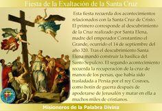 MISIONEROS DE LA PALABRA DIVINA: FIESTA  DE LA EXALTACIÓN DE LA SANTA CRUZ