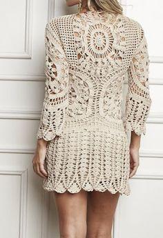 Crochet dress - Free Pattern. more like a tunic, but I like the idea.