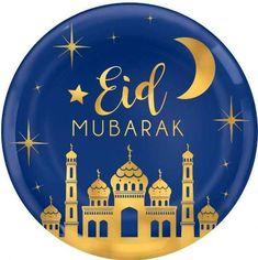This Metallic Gold Eid Mubarak Platter features metallic gold designs of a mosque, a crescent moon, stars, and an 'Eid Mubarak' headline. Serve some delicious hors d'oeuvres at your Eid Mubarak celebration with this platter! Eid Mubarak Photo, Eid Mubarak Images, Eid Mubarak Wishes, Eid Mubarak Greetings, Ramadan Greetings, Graduation Party Supplies, Birthday Supplies, Kids Party Supplies, Eid Mubarak Wallpaper