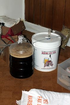 Two fermentors of barleywine fermenting.