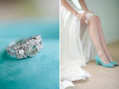 L O V E - turquoise wedding shoes