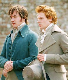 Pride & Prejudice, Matthew MacFadyen as Mr Darcy & Simon Woods as Mr Bingley Matthew Macfadyen, Jane Austen, Judi Dench, Mr Bingley, Mr. Darcy, North And South, Pride And Prejudice 2005, Elizabeth Bennet, Classic Books