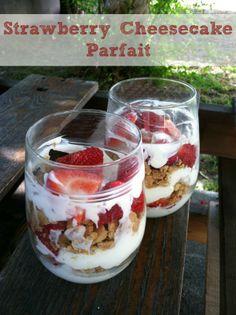 Strawberry Cheesecake Parfait #Recipe @Lisa Phillips-Barton Phillips-Barton Samples #easyrecipes