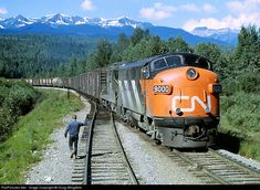 CN Rail EMD F3A in British Columbia, 1968.