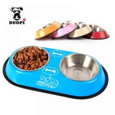 Double Bowl with removable Stainless Steel Bowls. Dog Cake Recipes, Dog Food Recipes, Puppy Food, Pet Food, Dogs Funny Husky, Dog Quotes Funny, Dog Cakes, Food Bowl, Dog Feeding