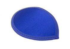 Blue Satin Teardrop Fascinator Hat Base with Hairclips - Available in 12 Colors