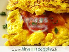 Fitness omeleta s dusenou paradajkou