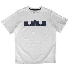 0ba1c2819265 Nike Lebron Logo Dri-Fit T-Shirt - Boys  Grade School - Pure  Platinum Blackened Blue