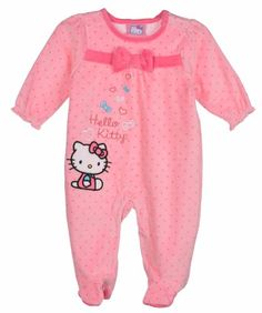 Hello Kitty Baby Baby-Girls Newborn Pink Velour Sleep and Play - List price: $28.00 Price: $14.99