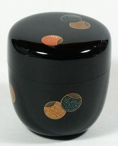 Natsume tea caddy, tsubo-tsubo design, Sakita Hiroshi, Japan, 20th c. (item #345258, detailed views)