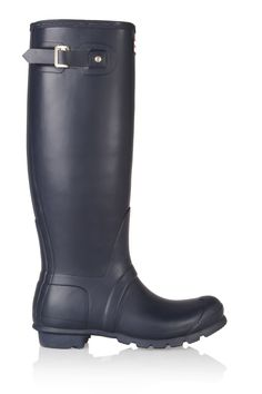Heel measures approximately 1 inch with a inch platform Navy rubber Pull on The natural wax used to weather-proof Hunter Wellington boots may cause slight flecks in dye Canada Goose Gilet, Hunter Original, Maria Black, Wellington Boot, Outdoor Wear, Denim Outfit, Black Rings, Hunter Boots, Rubber Rain Boots