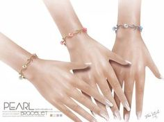 Sims 4 Updates: TSR - Accessories, Jewelry : Bracelet N08 by S-Club LL, Custom Content Download!