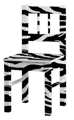 how to paint a chair with a zebra print design