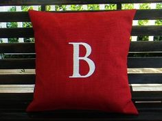 Monogrammed Initial Outdoor Pillow Cover  in by DesignsByThem, $25.50