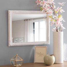 Miroir à moulures blanc vieilli 40x50cm ODELIA - MDM