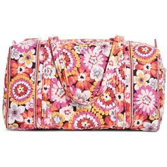 Vera Bradley Small Duffel Travel Bag in Pixie Blooms ($34) ❤ liked on Polyvore featuring bags, luggage and pixie blooms