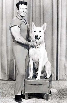 "Jack LaLanne's exercise show That dog looks like the one I used to have~ he was named ""Bubba"""