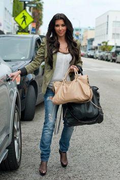 Kim Kardashian wearing a blazer
