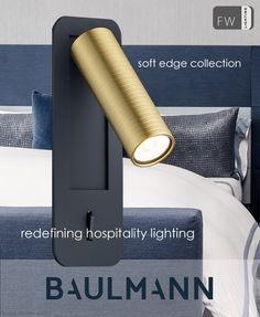 """Handmade in Germany, the NEW soft edge range of LED reading lights comes from Baulmann Leuchten's recently launched """"designer collection"""". Initially the collection was created for the hospitality sector but has also found its place in the residential market. You will find a wide variety of decorative lighting styles and designs to choose from all, fully customisable. German made, these reading lights are of contract quality and finish and come with a """"built-in"""" guarantee to withstand the rigor Led Reading Light, Reading Lights, Decorative Lighting, Lighting Manufacturers, Fashion Lighting, Light Decorations, Designer Collection, Hospitality, Lighting Design"""