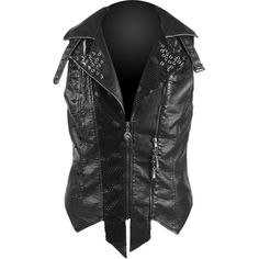 Black vest with spikes and studs by Punk Rave