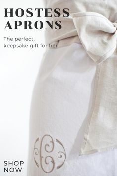 Hostess gifts by heirloomed collection. Beautiful Handwriting, Linen Apron, Traditional Fashion, Homemade Breakfast, Meaningful Gifts, Recipe Cards, Hostess Gifts, Brunch Recipes, Classic Style
