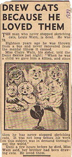 Cats in the 19th Century (Part 7-Cats in Art-Louis Wain)